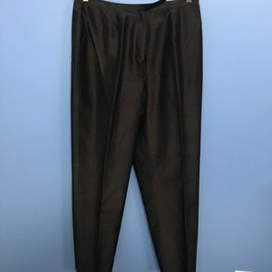 Jones New York Silk Black Pants